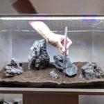 Bodengrund in einem Aquascaping